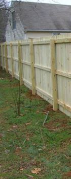 Charlotte wood privacy fence